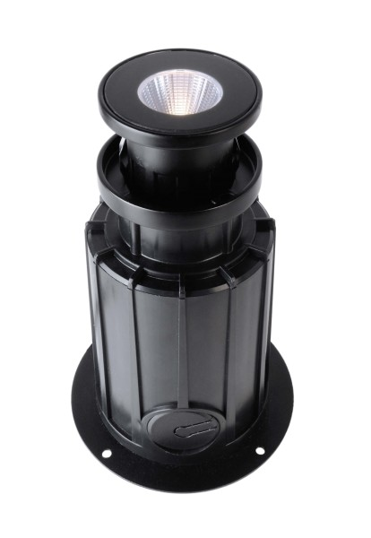 Deko-Light Bodeneinbauleuchte, NC COB I Rund, Aluminium Druckguss, schwarz, Warmweiß, 24°, 5W, 230V