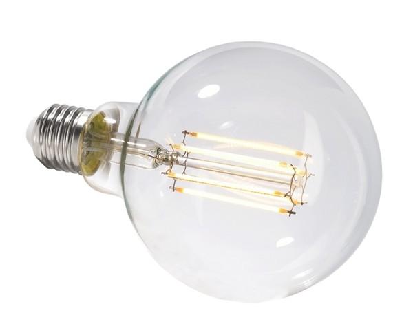 Deko-Light Leuchtmittel, Filament E27 G95 2700K, Glas, Warmweiß, 300°, 8W, 230V, 44mA, 140mm