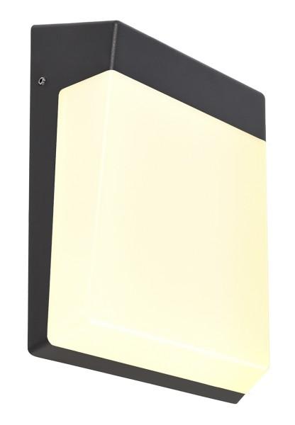 Deko-Light Wandaufbauleuchte, Gianfar, Aluminium Druckguss, Dunkelgrau, Warmweiß, 120°, 12W, 230V