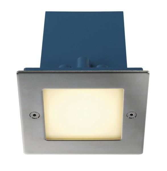 FRAME OUTDOOR, Wandeinbauleuchte, LED, 3000K, IP44, eckig, edelstahl, 1,5W