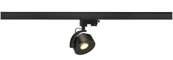 KALU TRACK, Spot für Hochvolt-Stromschiene 3Phasen, LED, 3000K, rund, schwarz