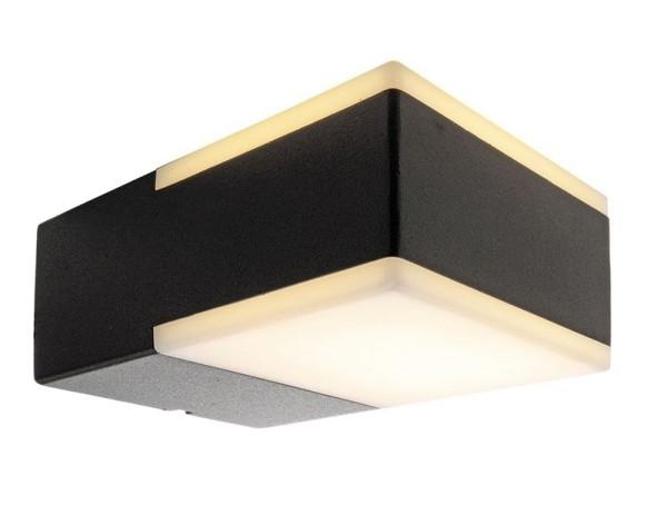 Deko-Light Wandaufbauleuchte, Cube, Aluminium Druckguss, anthrazit, Warmweiß, 120°, 8W, 230V