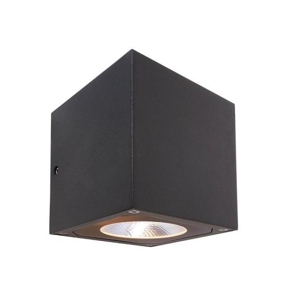 Deko-Light Wandaufbauleuchte, Cubodo II Single DG, Aluminium Druckguss, dunkelgrau, Warmweiß, 19°