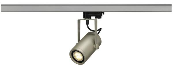 EURO SPOT INTEGRATED LED, Spot für Hochvolt-Stromschiene 3Phasen, LED, 2700K, silbergrau, 24°