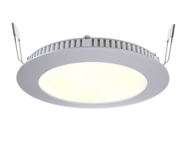 Deko-Light Deckeneinbauleuchte, LED Panel 8, Aluminium Druckguss, silberfarben, Warmweiß, 115°, 7W