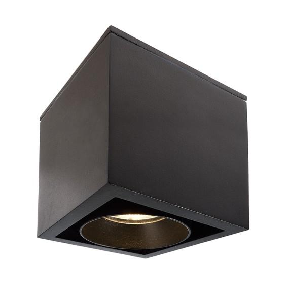 Deko-Light Deckenaufbauleuchte, Ceti, Aluminium Druckguss, schwarz, Warmweiß, 35°, 9W, 230V, 85x85mm