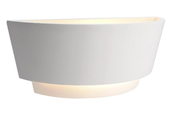 Deko-Light Wandaufbauleuchte, DL TWYNNDA I, Gips, weiß überstreichbar, 40W, 230V, 321x120mm