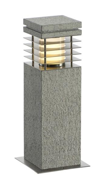 ARROCK GRANITE, Outdoor Standleuchte, TC-(D,H,T,Q)SE, IP44 , eckig, salt & pepper, Granit