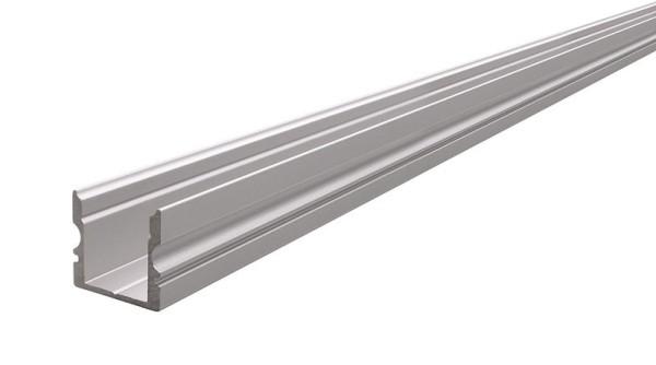 Reprofil Profil, U-Profil hoch AU-02-10, Aluminium, Silber-matt eloxiert, 2000mm