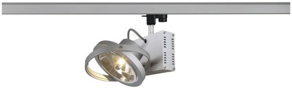 TEC 1, Spot für Hochvolt-Stromschiene 3Phasen, einflammig, QR111, silbergrau, max. 50W