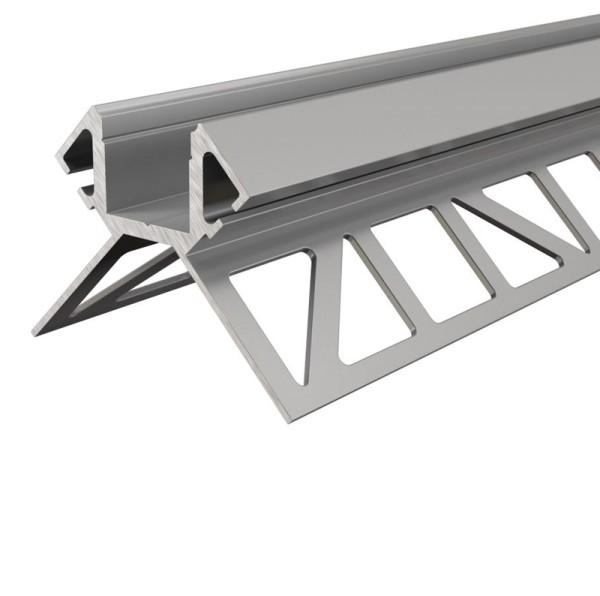 Reprofil Profil, Fliesen-Profil Ecke außen EV-02-12, Aluminium, Silber eloxiert, 2500mm