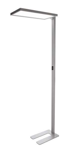 Deko-Light Stehleuchte, Office One, Aluminium, silberfarben, Neutralweiß, 110° / 80°, 80W, 230V