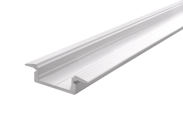 Reprofil Profil, T-Profil flach ET-01-12, Aluminium, Weiß-matt, 2000mm