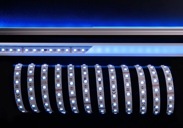 Deko-Light Flexibler LED Stripe, 5050-60-24V-RGB+6200K-5m, Kupfer, Weiß, RGB + Kaltweiß, 120°, 70W