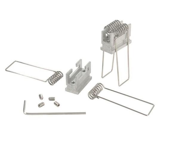 Reprofil Profil Zubehör, Nutenstein mit Spannfedern Set 2 Stk, Aluminium, Silber, 25mm