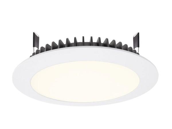 Deko-Light Deckeneinbauleuchte, LED Panel Round III 26, Aluminium Druckguss, weiß, Neutralweiß, 100°