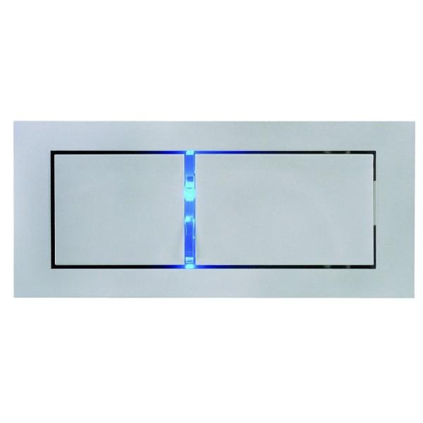 BEDSIDE, Einbauleuchte, LED, 4000K, silbergrau, links, mit blauem Orientierungslicht