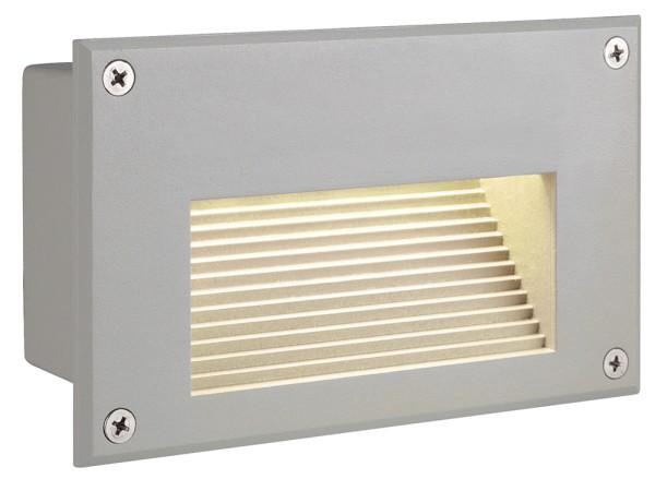 BRICK DOWNUNDER, Outdoor Wandeinbauleuchte, LED, 3000K, IP54, rechteckig, silbergrau