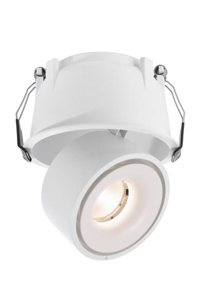 Deko-Light Deckeneinbauleuchte, Uni II, Aluminium Druckguss, weiß, Warmweiß, 35°, 12W, 33-34V, 350mA