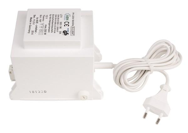 Netzgerät, ABN Transformator 12 VAC,300 W, IP20, Kunststoff, Weiß, 300W, 11V, 130x88mm