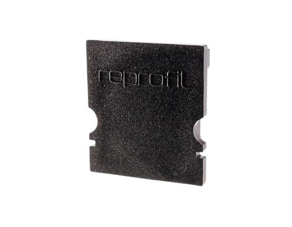 Reprofil Profil Zubehör, Endkappe H-AU-02-12 Set 2 Stk, Kunststoff, Schwarz, 18x6mm