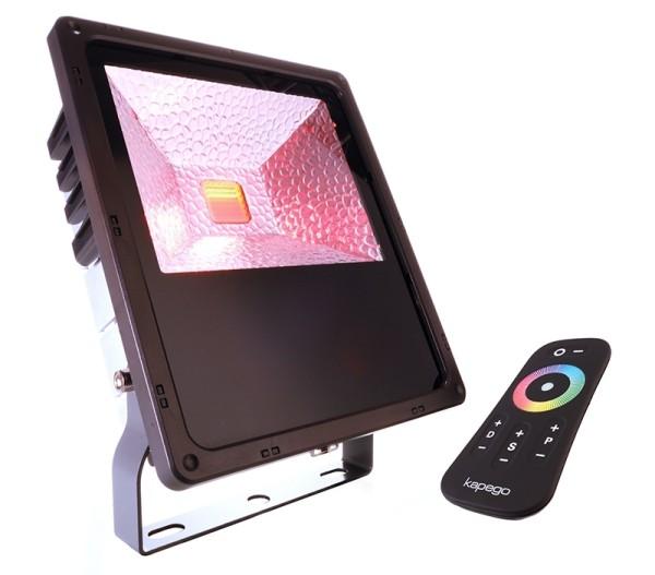 Deko-Light Boden- / Wand- / Deckenleuchte, Flood RF II -60 RGB, Kunststoff, anthrazit, RGB, 120°