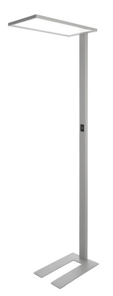 Deko-Light Stehleuchte, Office One Transparent, dimmbar, Aluminium, silberfarben, Neutralweiß, 50W