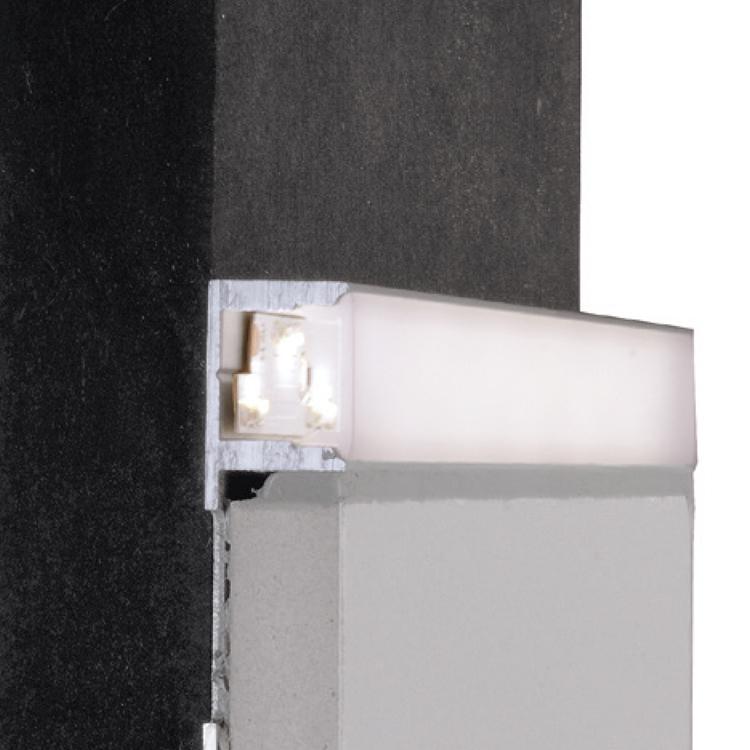 reprofil fliesen profil el 03 12 f r led stripes bis 13 3 mm silber matt e ebay. Black Bedroom Furniture Sets. Home Design Ideas