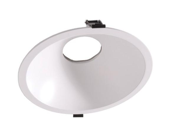 Deko-Light Zubehör, 230 mm Einbauring für Modular Sytem COB, Aluminium, Weiß mattiert, 8°