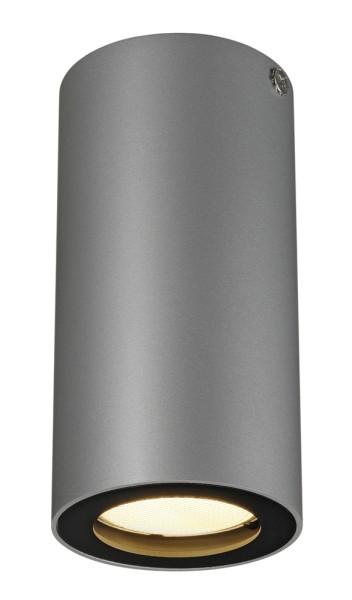 ENOLA_B CL-1, Deckenleuchte, QPAR51, rund, silbergrau/schwarz, max. 35 W