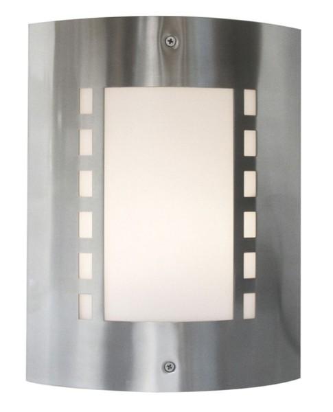 Deko-Light Wandaufbauleuchte, Wall I, Edelstahl, silberfarben, 40W, 230V, 230x92mm