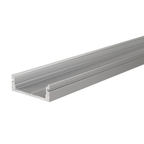 Reprofil, U-Profil flach AU-01-15 für LED Stripes bis 16,3 mm, Silber-matt, eloxiert, 2000 mm