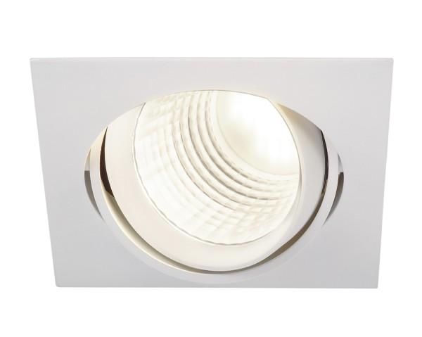 NEW TRIA DLMI, Einbauleuchte, LED, 4000K, eckig, weiß, 60°, schwenkbar, inkl. Clipfedern