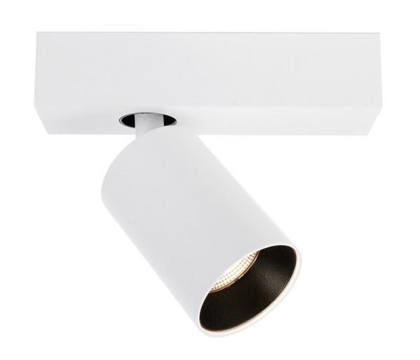 Deko-Light Deckenaufbauleuchte, Klara I, Aluminium, weiß matt, Warmweiß, 35°, 9W, 230V, 175x60mm