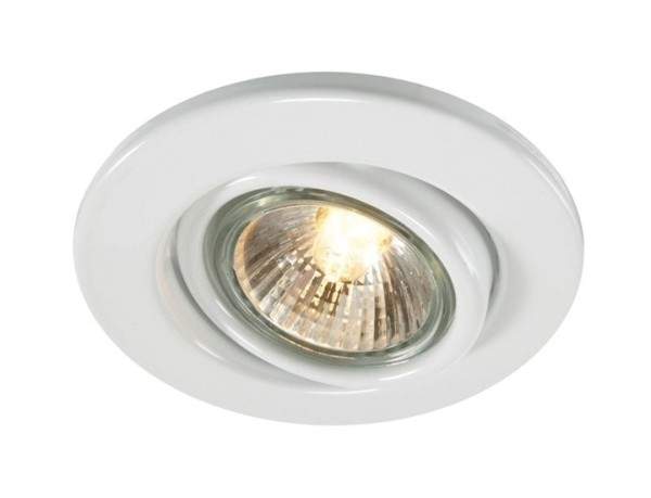 Kapego Deckeneinbauring, exklusive Leuchtmittel, Weiß, spannungskonstant, 220-240V AC/50-60Hz, GU10