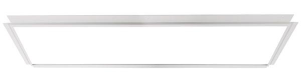 Deko-Light Zubehör, Einlegerahmen für Gips 120x30, Metall, weiß, 1270x370mm