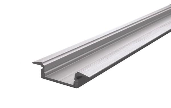 Reprofil Profil, T-Profil flach ET-01-12, Aluminium, Silber gebürstet, 1000mm