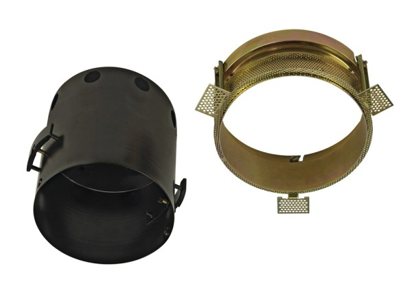 EINBAURAHMEN 1 FRAMELESS, für AIXLIGHT PRO, rund, schwarz, Ø/H 15,5/18 cm, inkl. Einbaurahmen