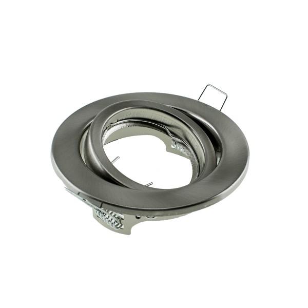 Einbauleuchte CIRCLE für GU10 Sockel, rund, Nickel (Edelstahloptik), max. 50W, inkl. Clipfedern