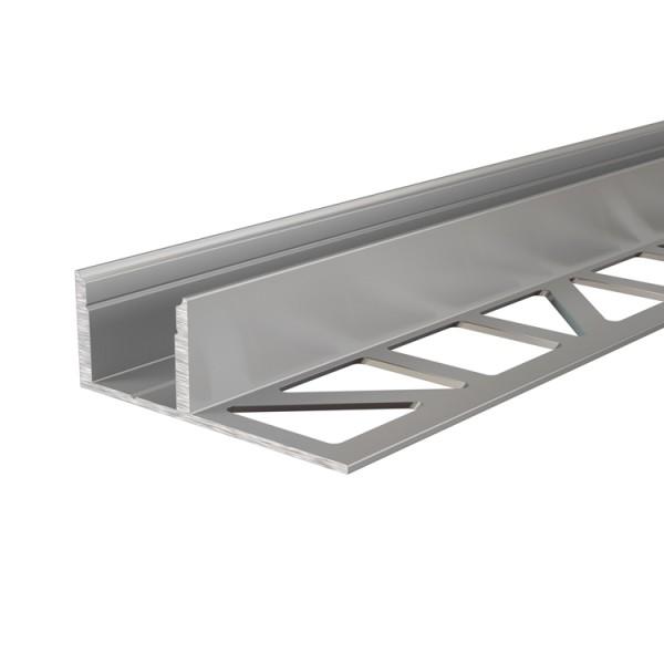 Reprofil, Fliesen-Profil EL-03-12 für LED Stripes bis 13,3 mm, Silber-matt, eloxiert, 2500 mm
