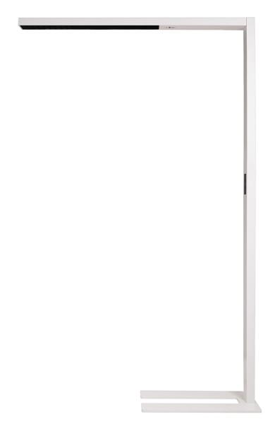 Deko-Light Stehleuchte, Office Three Motion, Aluminium, weiß matt, Neutralweiß, 50°, 80W, 230V