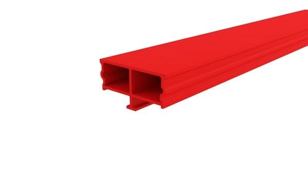 Reprofil Profil Zubehör, Abdeckung Dummy, Kunststoff, Rot, 3000mm