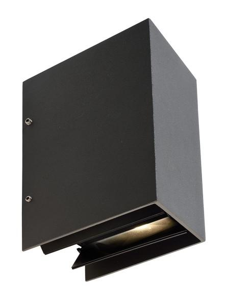 Deko-Light Wandaufbauleuchte, Arcturus I, Aluminium Druckguss, dunkelgrau, Warmweiß, 00°-90°, 5W