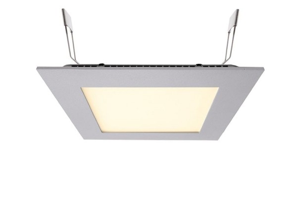 Deko-Light Deckeneinbauleuchte, LED Panel Square 15, Aluminium Druckguss, silberfarben, Warmweiß