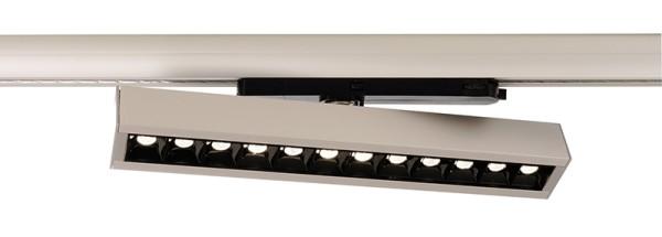 Deko-Light Schienensystem 3-Phasen 230V, Ain 24-30W, Aluminium, silberfarben, Neutralweiß, 34°, 30W