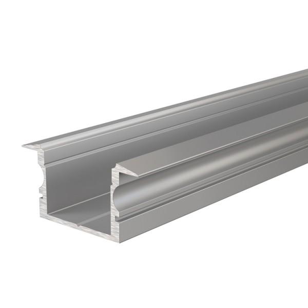 Reprofil, T-Profil hoch ET-02-15 für LED Stripes bis 16,3 mm, Silber-matt, eloxiert, 2000 mm