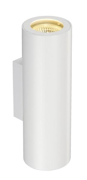 ENOLA_B, Wandleuchte, QPAR51, rund, up/down, weiß, max. 50 W, inkl. Zierring weiß