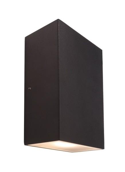 Deko-Light Wandaufbauleuchte, Kimbali Eckig, Aluminium, anthrazit, Warmweiß, 80°, 6W, 230V, 160x90mm
