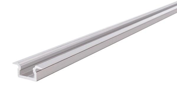 Reprofil Profil, T-Profil flach ET-01-05, Aluminium, Silber gebürstet, 2000mm