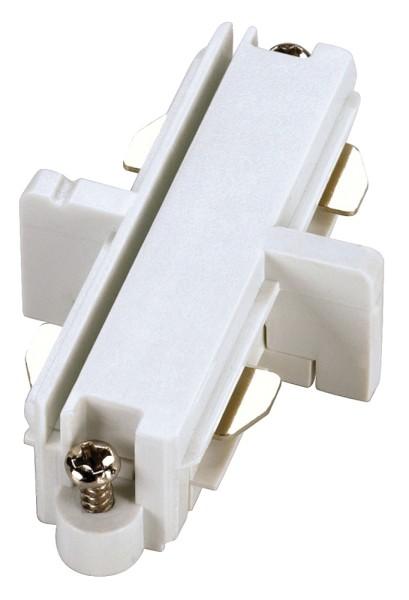 LÄNGSVERBINDER, für Hochvolt 1Phasen-Aufbauschiene, weiß, elektrisch